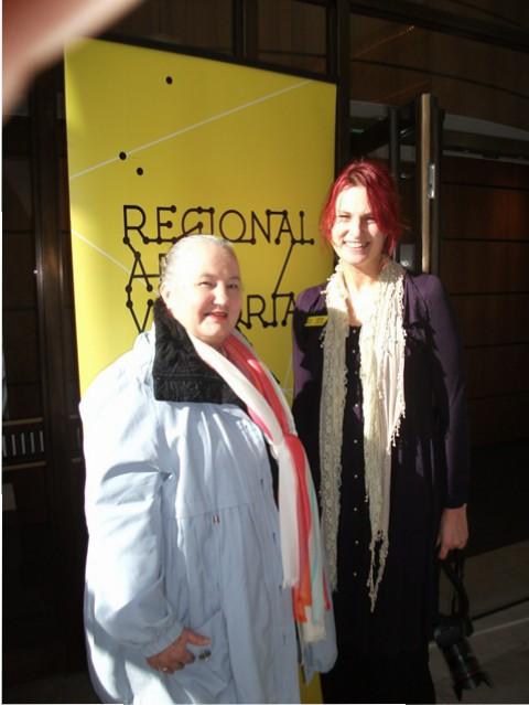 2 of 21 Regional Arts Victoria's Annual Members Celebration and AGM at the State Library of Victoria, Latrobe Street, Melbourne 30.05.2015 - Karen Robinson & Amanda Gibson - RAV Regional Facilitator.JPG