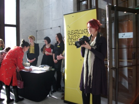 4 of 21 Regional Arts Victoria's Annual Members Celebration and AGM at the State Library of Victoria, Latrobe Street, Melbourne 30.05.2015 Photographed by Karen Robinson-Abstract Artist.JPG