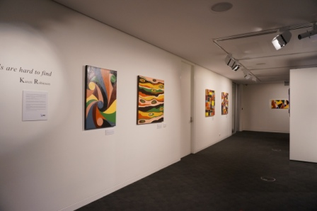No. 29 - 'When words are hard to find' Solo Exhibition of Karen Robinson 6.5.15 Gallery ready for Opening night at Gee Lee-Wik Doleen Gallery for Exhibition.JPG
