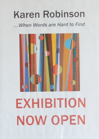 No. 52 - 'When words are hard to find' Solo Exhibition of Karen Robinson 6.5.15 Gallery ready for Opening night at Gee Lee-Wik Doleen Gallery for Exhibition.JPG