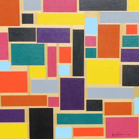 """Painting No. 60 – Title """"Brick Wall"""" May 2015 – by Abstract Artist Karen Robinson NB All images are protected by copyright laws (2).JPG"""