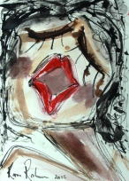 No. 1 of 1 Creative Writing Group - Artwork Titled 'Things I Dislike' Schmincke Ink on A4 Paper by Karen Robinson - Abstract Artist 29.07.2015 NB All images and stories are copyright protected .JPG