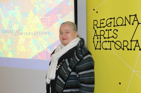 No. 1 of 2 Creative Conversations with Regional Arts Victoria - Attendee at the Event - Karen Robinson - Abstract Artist 10th July 2015.JPG