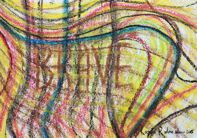 No. 3 of 3 Art Therapy Session 2 July 2015 'Starry Night' Pastels on Paper by Karen Robinson - Abstract Artist NB All images are copyright protected.JPG