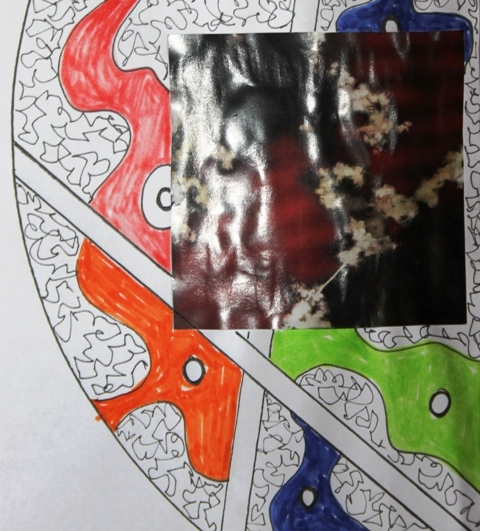 No. 4 of 7 Art Therapy Group July 2015 'What is important for me today!' Mandala Exercise - Artwork by Karen Robinson Abstract Artist NB All images are protected by copyright laws.JPG