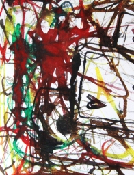 No. 2-4 Creative Writing Group - Artwork Titled 'Not A Game - But A Real Necessity'Schmincke Ink-A4 Paper by Karen Robinson - Abstract Artist 11.10.15 All images-stories are copyright protected.JPG