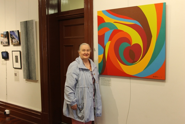 No. 8 of 28 Group Exhibition titled 'AS IF When and Now' Women's Art Register at Queen Victoria Women's Centre Melbourne Photographed by Hubby of Karen Robinson Abstract Artist 1.10.2015.JPG