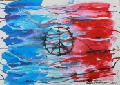 1 of 8 Creative Writing - Poem Titled 'Paris' and Schminchke & Liquitex Ink on Cotton A3 297x420mm 300GSM by Karen Robinson 17-11-2015 Copyright Protected.JPG