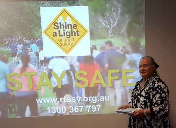 1 of 2 Karen Robinson as Road Trauma Awareness Seminar Facilitator 14.5.16 NB: All images are protected by copyright laws