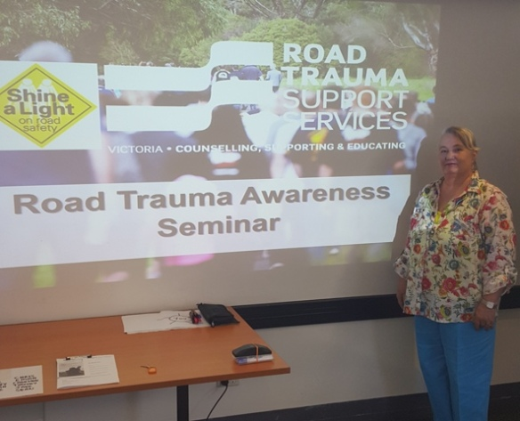 1 of 3 Facilities where Karen Robinson as Road Trauma Awareness Seminar Facilitator-Educator at Frankston, Melbourne Australia delivers RTSSV's Program January 2016 NB All images are protected by copyright laws