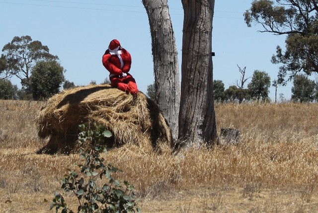 1 of 3 Photo-taking & Story-telling, Creative Writing by Karen Robinson Titled 'Santa's Pooped!' Just south of Bendigo Dec 2015 NB All images are protected by copyright laws.jpg