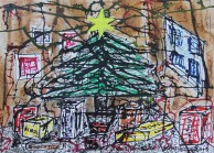 No. 1 of 5 'Merry Christmas it well be...' by Karen Robinson Artwork inspired by Creative Writing Piece - Schmincke Ink on A3 100% Cotton Movlin Paper Dec 2015 NB All images are protected by copyright .JPG