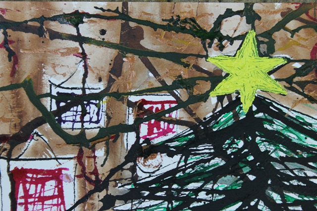 No. 3 of 5 'Merry Christmas it well be...' by Karen Robinson Artwork inspired by Creative Writing Piece - Schmincke Ink on A3 100% Cotton Movlin Paper Dec 2015 NB All images are protected by copyright.JPG