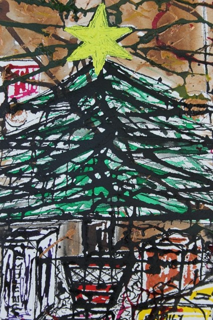 No. 4 of 5 'Merry Christmas it well be...' by Karen Robinson Artwork inspired by Creative Writing Piece - Schmincke Ink on A3 100% Cotton Movlin Paper Dec 2015 NB All images are protected by copyright.JPG
