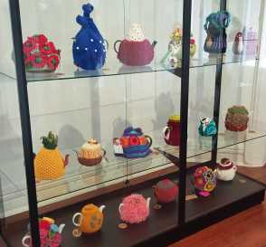 No. 12 of 101 'Teavotion' Group Exhibition of 100's of Teacosies at Bundoora Homestead Arts Centre March 2016 photographed by Karen Robinson