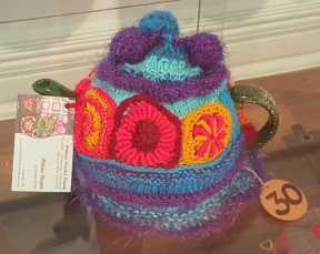 No. 13 of 101 'Teavotion' Group Exhibition of 100's of Teacosies at Bundoora Homestead Arts Centre March 2016 photographed by Karen Robinson