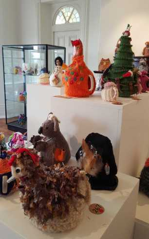 No. 21 of 101 'Teavotion' Group Exhibition of 100's of Teacosies at Bundoora Homestead Arts Centre March 2016 photographed by Karen Robinson