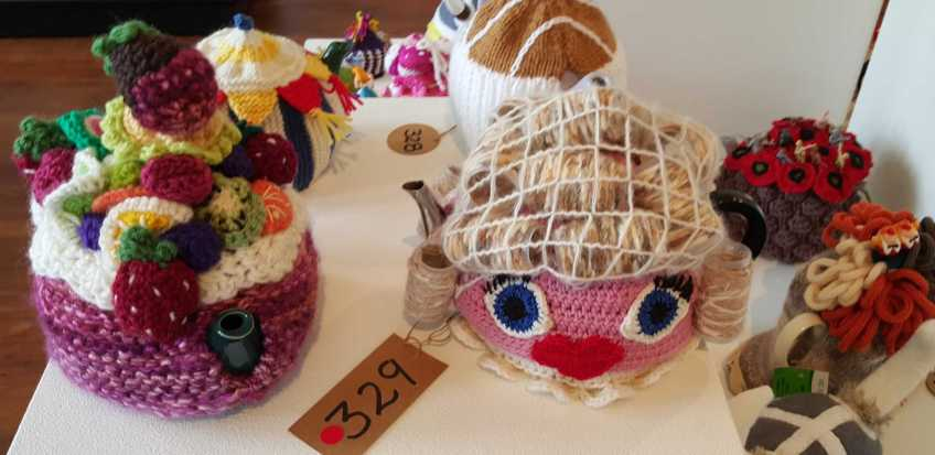 No. 23 of 101 'Teavotion' Group Exhibition of 100's of Teacosies at Bundoora Homestead Arts Centre March 2016 photographed by Karen Robinson