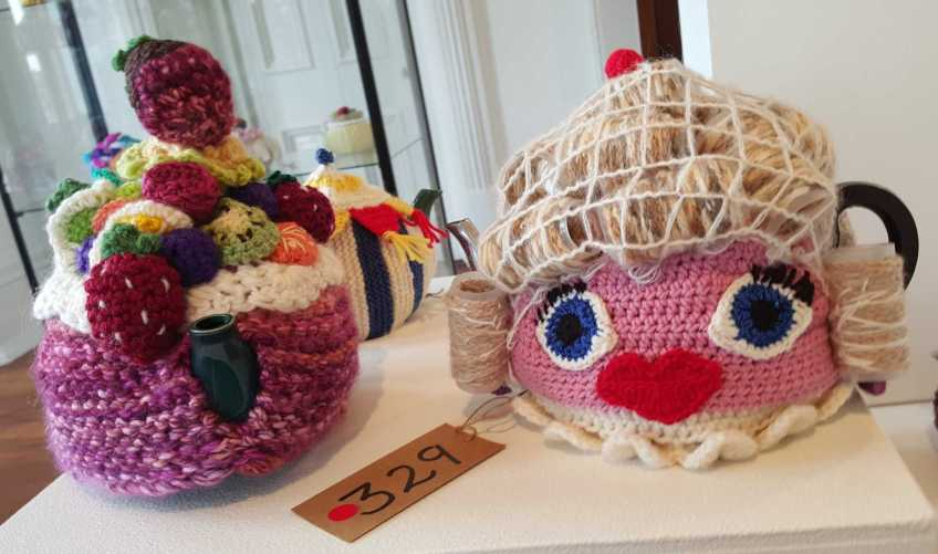 No. 24 of 101 'Teavotion' Group Exhibition of 100's of Teacosies at Bundoora Homestead Arts Centre March 2016 photographed by Karen Robinson