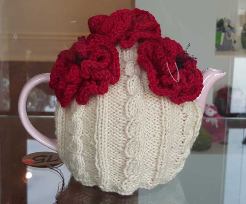 No. 35 of 101 'Teavotion' Group Exhibition of 100's of Teacosies at Bundoora Homestead Arts Centre March 2016 photographed by Karen Robinson