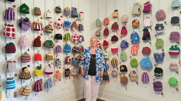 No. 42 of 101 'Teavotion' Group Exhibition of 100's of Teacosies at Bundoor Homestead Arts Centre March 2016 photographed by Karen Robinson
