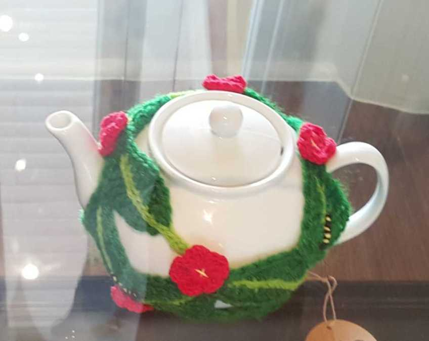 No. 67 of 101 'Teavotion' Group Exhibition of 100's of Teacosies at Bundoora Homestead Arts Centre March 2016 photographed by Karen Robinson
