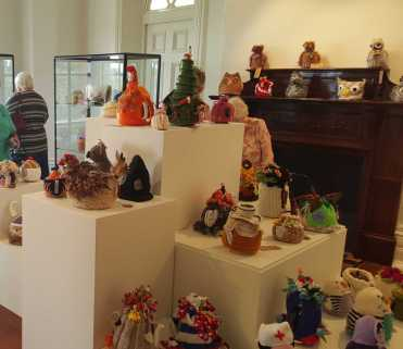 No. 70 of 101 'Teavotion' Group Exhibition of 100's of Teacosies at Bundoora Homestead Arts Centre March 2016 photographed by Karen Robinson