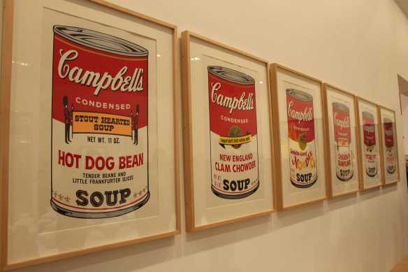 1-2 Andy Warhol's Campbell Soup 11 Colour Silkscreen on Paper exhibited at the National Gallery of Victoria photo taken by Karen Robinson 23.4.16