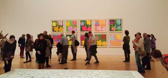 1-8 Andy Wahol's Flowers 1970 Colour Silkscreens on Paper exhibition at National Gallery of Victoria Photo taken by Karen Robinson 23.4.16