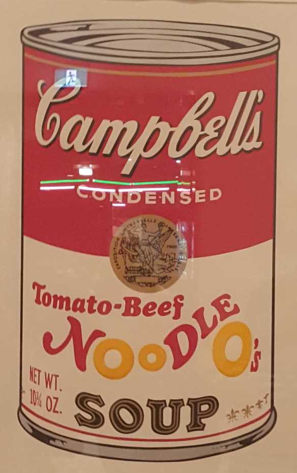 2-2 Andy Warhol's Campbell Soup 11 Colour Silkscreen on Paper exhibited at the National Gallery of Victoria photo taken by Karen Robinson 23.4.16
