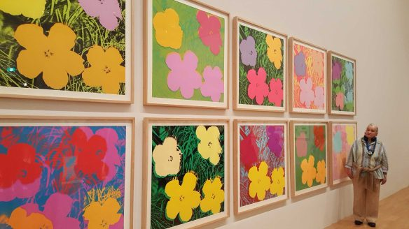 3-8 Andy Wahol's Flowers 1970 Colour Silkscreens on Paper exhibition at National Gallery of Victoria Photo taken by Karen Robinson 23.4.16
