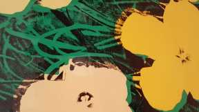 5-8 Andy Wahol's Flowers 1970 Colour Silkscreens on Paper exhibition at National Gallery of Victoria Photo taken by Karen Robinson 23.4.16