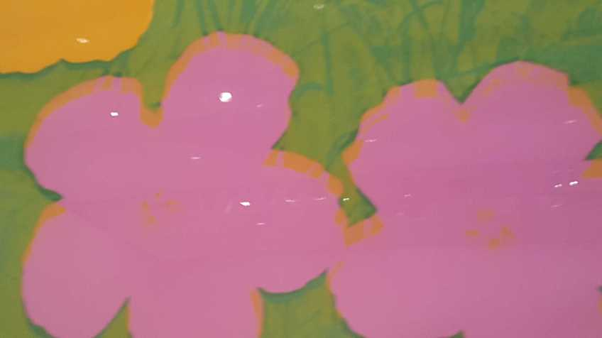 8-8 Andy Wahol's Flowers 1970 Colour Silkscreens on Paper exhibition at National Gallery of Victoria Photo taken by Karen Robinson 23.4.16