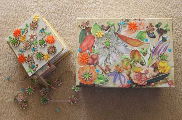 No.51 Step 7 - Completed Altered Book and Keepsake Box for book - 'Altered Book' by Karen Robinson created during Art Therapy Sessions 2016 NB All images are protected by copyright laws