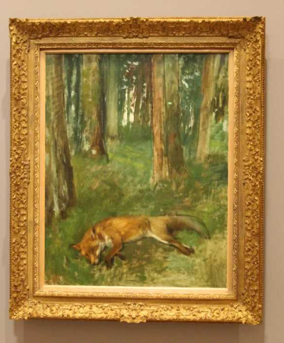 1 of 1 Dead fox in the undergrowth 1861-64 oil on canvas 92.0 x 73.0 cm - Edgar Degas - Musee des Beaux-Arts, Reunion des Musees Metropolitains, Rouen, Normandie. Photographed by Karen Robinson July 16