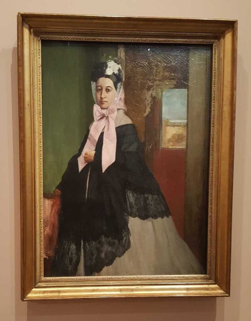 1 of 2 'Therese De Gas c 1863 oil on canvas 89.5 x 66.7cm - Edgar Degas -Musee d'Orsay, Paris. Photographed by Karen Robinson July 2016