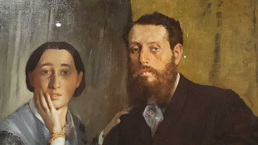 4 of 4 Edmondo and Therese Morbilli c. 1865 oil on canvas 116.5 x 888.3 cm - Edgar Degas Museum of Fine Arts, Boston Gift of Robert Treat Paine, 2nd. Photographed by Karen Robinson July 2016