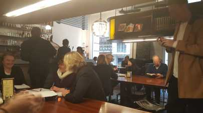Cafe inside CAE on Flinders Lane, Melbourne, Australia - Selfie taken by Karen Robinson July 2016 NB All images are protected by copyright laws