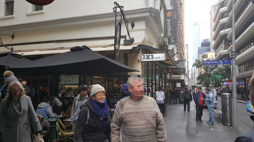 Degraves Street,, Melbourne, Australia - Photograph taken by Karen Robinson July 2016 NB All images are protected by copyright laws