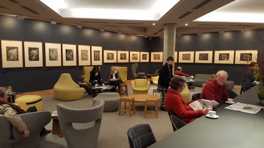 National Gallery of Victoria - Melbourne Australia Members Lounge - July 2016 Photo taken by Karen Robinson NB All images are protected by copyright laws
