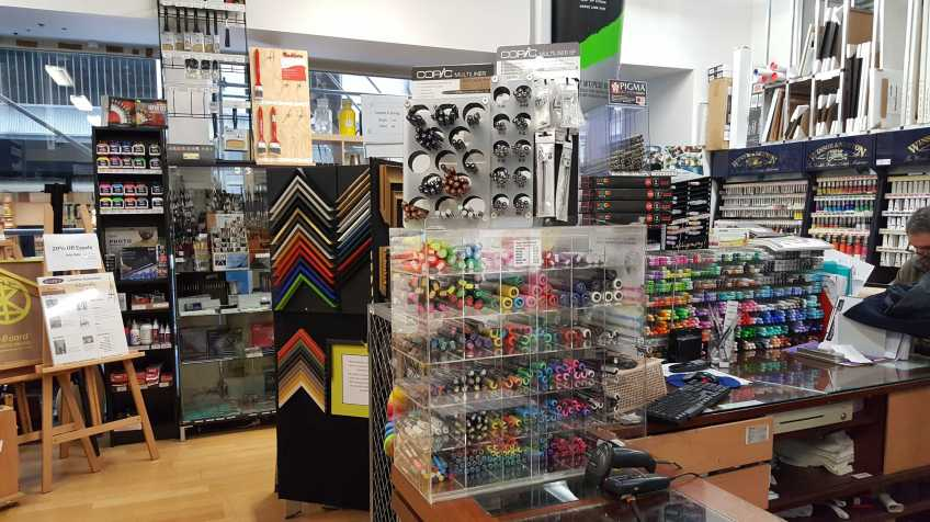 No.1-3 Store View - Senior Art Supplies, 21 Degraves Street, Melbourne, Australia - Photo taken by Karen Robinson 29.7.2016 NB All images are protected by copyright laws