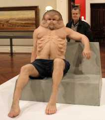 No. 25 'Meet Graham' Sculpture by Patricia Piccinini at the State Library Victoria & commissioned by TAC 2016 Photographed by Karen Robinson