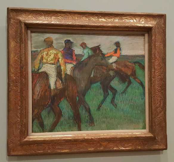 Racehorses c. 1895-99 pastel on tracing paper on cardboard 55.8 x 64.8 cm National Gallery of Canada, Ottawa Purchased, 1950. Photographed by Karen Robinson July 2016