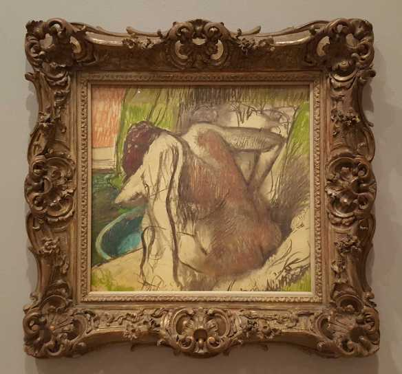 The bather c. 1895 pastel and charcoal 78.0 x 79.0 cm - Edgar Degas - Reading Public Museum, Pennsylvania Bequest, Henry K. Dick Estate. Photographed by Karen Robinson July 2016