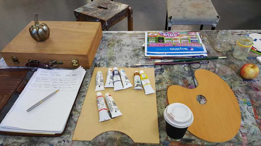 1-11 Class 5 'Produce Paintings' CAE Class - Certificate 111 in Visual Arts - Photograph taken by Karen Robinson Aug 2016 NB All images are protected by copyright laws