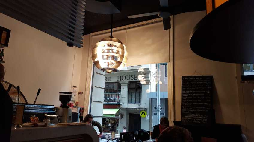 1 of 4 Cafe inside CAE on Flinders Lane, Melbourne, Australia - Photograph taken by Karen Robinson August 2016 NB All images are protected by copyright laws