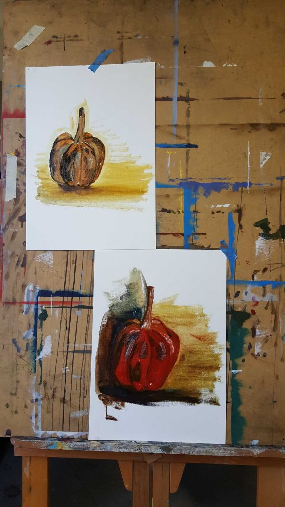 10-11 Class 5 'Produce Paintings' CAE Class - Certificate 111 in Visual Arts - Photograph taken by Karen Robinson Aug 2016 NB All images are protected by copyright laws