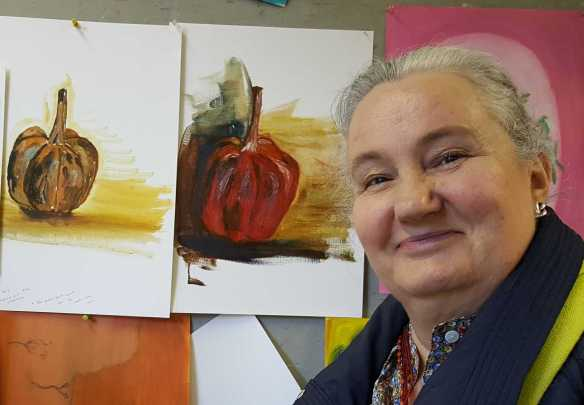 11-11 Class 5 'Produce Paintings' CAE Class - Certificate 111 in Visual Arts - Photograph taken by Karen Robinson Aug 2016 NB All images are protected by copyright laws
