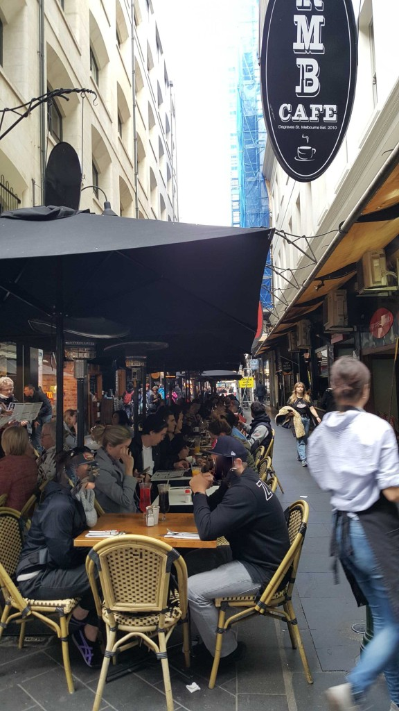 2 of 3 Corner of Degraves & Flinders Lane, Melbourne, Australia - Photograph taken by Karen Robinson August 2016 NB All images are protected by copyright laws