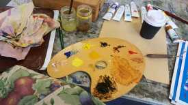 3-11 Class 5 'Produce Paintings' CAE Class - Certificate 111 in Visual Arts - Photograph taken by Karen Robinson Aug 2016 NB All images are protected by copyright laws
